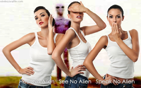 hear speak see no alien