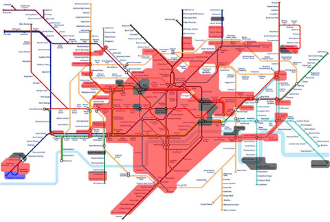 london underground wifi map